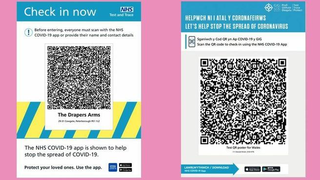 QR code poster UK corona app
