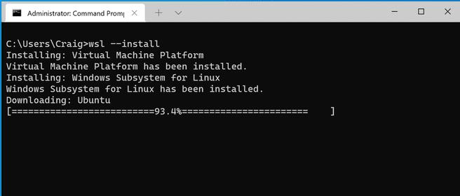 WSL Windows 10 command